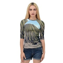 Mount Batok Bromo Indonesia Quarter Sleeve Raglan Tee