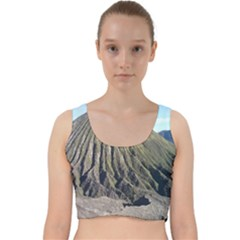 Mount Batok Bromo Indonesia Velvet Racer Back Crop Top