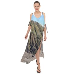 Mount Batok Bromo Indonesia Maxi Chiffon Cover Up Dress