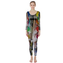 Paint Box Long Sleeve Catsuit