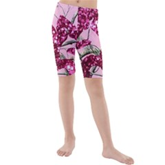 Love Browning Deer Glitter Kids  Mid Length Swim Shorts by Samandel