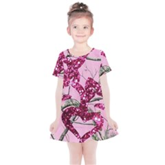 Love Browning Deer Glitter Kids  Simple Cotton Dress