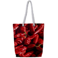 Red Chili Full Print Rope Handle Tote (small)
