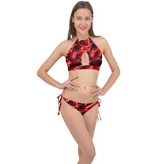 Red Chili Cross Front Halter Bikini Set
