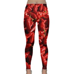 Red Chili Lightweight Velour Classic Yoga Leggings