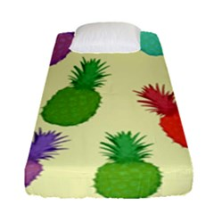 Colorful Pineapples Wallpaper Background Fitted Sheet (single Size) by Samandel