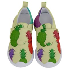 Colorful Pineapples Wallpaper Background Velcro Strap Shoes