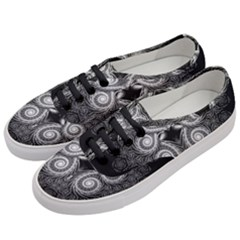 Fractal Filigree Lace Vintage Women s Classic Low Top Sneakers by Samandel