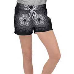Fractal Filigree Lace Vintage Women s Velour Lounge Shorts