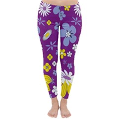 Floral Flowers Classic Winter Leggings