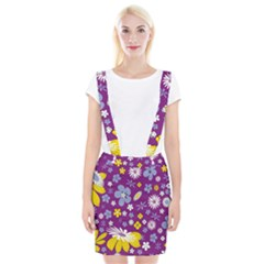 Floral Flowers Braces Suspender Skirt