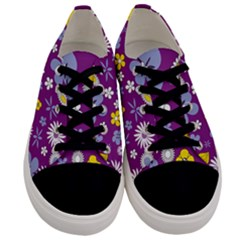 Floral Flowers Men s Low Top Canvas Sneakers