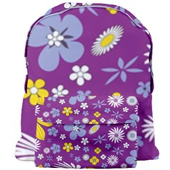 Floral Flowers Giant Full Print Backpack