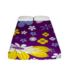 Floral Flowers Fitted Sheet (full/ Double Size)