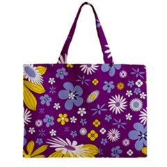 Floral Flowers Zipper Mini Tote Bag