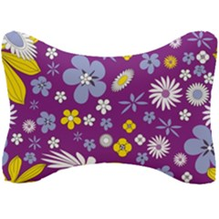 Floral Flowers Seat Head Rest Cushion
