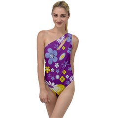 Floral Flowers To One Side Swimsuit