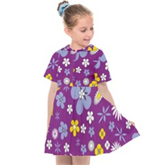 Floral Flowers Kids  Sailor Dress
