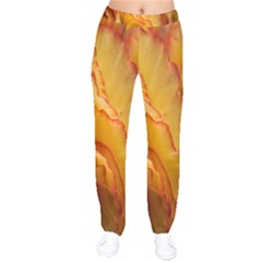 Flowers Leaves Leaf Floral Summer Velvet Drawstring Pants