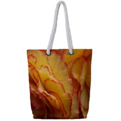 Flowers Leaves Leaf Floral Summer Full Print Rope Handle Tote (small)