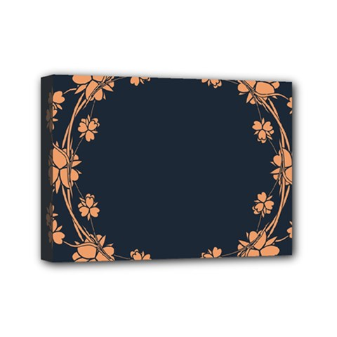 Floral Vintage Royal Frame Pattern Mini Canvas 7  X 5  (stretched)