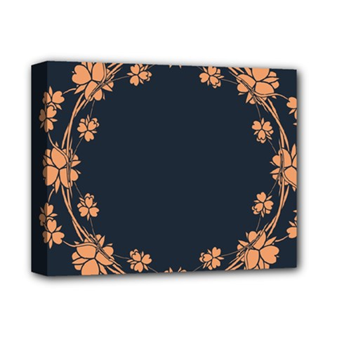 Floral Vintage Royal Frame Pattern Deluxe Canvas 14  X 11  (stretched)
