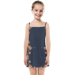 Floral Vintage Royal Frame Pattern Kids Summer Sun Dress