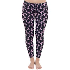 Breast Cancer Wallpapers Classic Winter Leggings