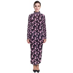 Breast Cancer Wallpapers Turtleneck Maxi Dress by Alisyart