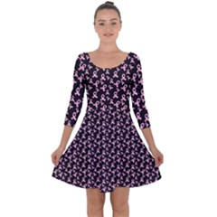 Breast Cancer Wallpapers Quarter Sleeve Skater Dress