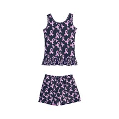 Breast Cancer Wallpapers Kid s Boyleg Swimsuit