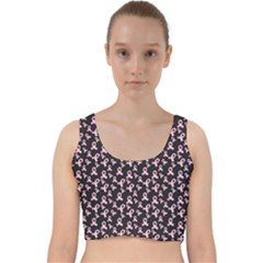 Breast Cancer Wallpapers Velvet Racer Back Crop Top