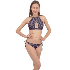 Breast Cancer Wallpapers Cross Front Halter Bikini Set