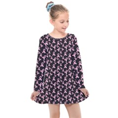 Breast Cancer Wallpapers Kids  Long Sleeve Dress