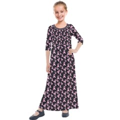 Breast Cancer Wallpapers Kids  Quarter Sleeve Maxi Dress