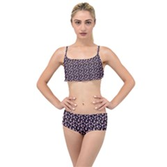 Breast Cancer Wallpapers Layered Top Bikini Set