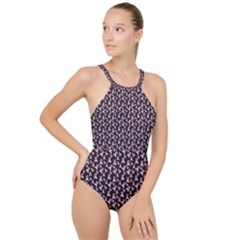 Breast Cancer Wallpapers High Neck One Piece Swimsuit