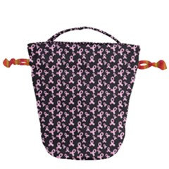 Breast Cancer Wallpapers Drawstring Bucket Bag