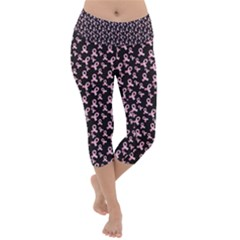 Breast Cancer Wallpapers Lightweight Velour Capri Yoga Leggings