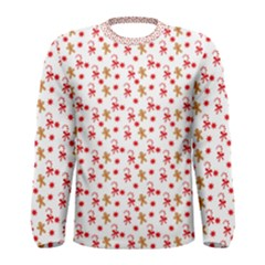 Cake Christmas Gingerbread Man Wallpapers Men s Long Sleeve Tee