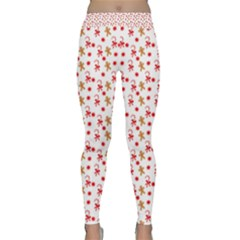 Cake Christmas Gingerbread Man Wallpapers Classic Yoga Leggings