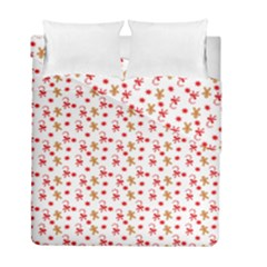 Cake Christmas Gingerbread Man Wallpapers Duvet Cover Double Side (full/ Double Size) by Alisyart