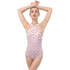Cake Christmas Gingerbread Man Wallpapers Cross Front Low Back Swimsuit