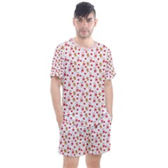 Cake Christmas Gingerbread Man Wallpapers Men s Mesh Tee And Shorts Set