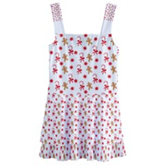 Cake Christmas Gingerbread Man Wallpapers Kids  Layered Skirt Swimsuit