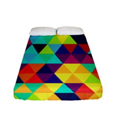 Bright Color Triangles Seamless Abstract Geometric Background Fitted Sheet (full/ Double Size)