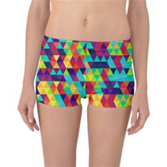 Bright Color Triangles Seamless Abstract Geometric Background Reversible Boyleg Bikini Bottoms by Alisyart