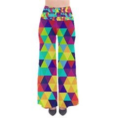Bright Color Triangles Seamless Abstract Geometric Background So Vintage Palazzo Pants