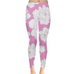 Beauty Flower Floral Pink Classic Winter Leggings