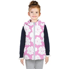 Beauty Flower Floral Pink Kid s Hooded Puffer Vest